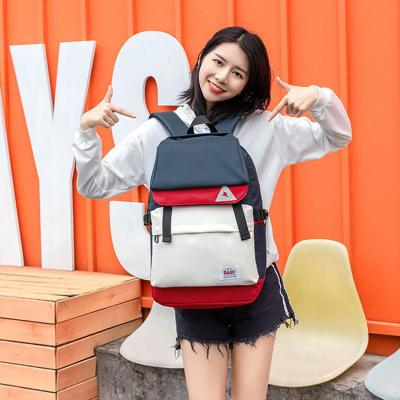 Candy Color Women's Laptop Backpack Waterproof USB Charging Travel Backpack For Women Patchwork Large Capacity Girl's Schoo Bag