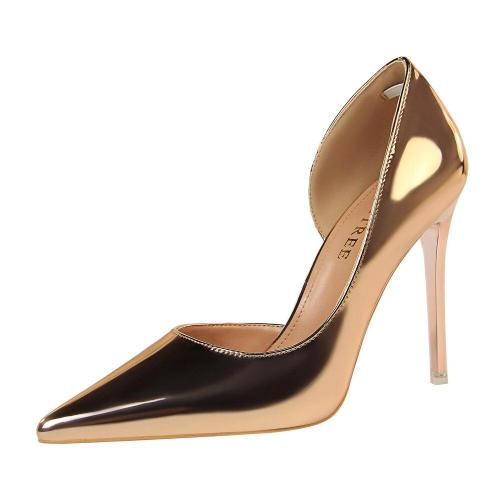 2019 New High Heels Shoes Women Pumps Stiletto Ladies Fashion Pumps Patent Leather Bridal Gift Wedding Shoe G0005