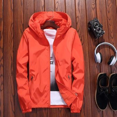 Jacket Women Red 7 Colors 7XL Plus Size Loose Hooded Waterproof Coat 2020 New Autumn Fashion Lady Men Couple Chic Clothing LR22