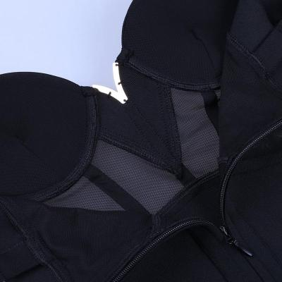 Ocstrade Summer Sexy Rayon Bandage Dress 2020 New Arrivals Mesh Insert Women Bandage Dress Black Party Night Club Bodycon Dress