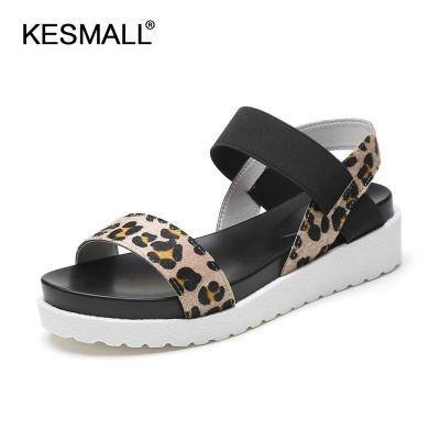 2020 Summer Shoes Woman Platform Sandals Leopard Gladiator Style Female Fashion Flat Sandalias Peep Toe Ladies Beach Footwear