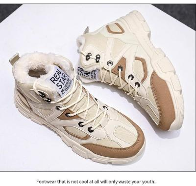 UPUPER Fashion Men Military Boots Outdoor Warm Snow Boots Anti-skid Winter Sneakers Men Shoes Safety Shoes Zapatos De Hombre