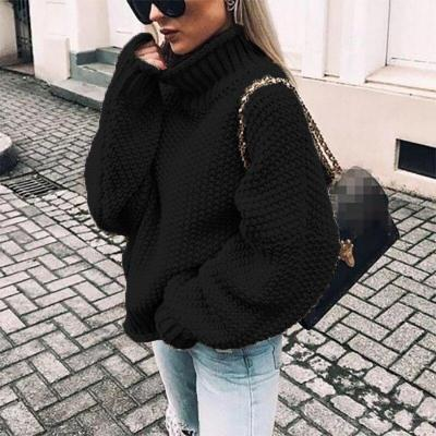 Bonjean Knitted Tops Jumper Autumn Winter Casual Pullovers Sweaters Women Thick Women Long Sleeve Big Loose Sweater Girls