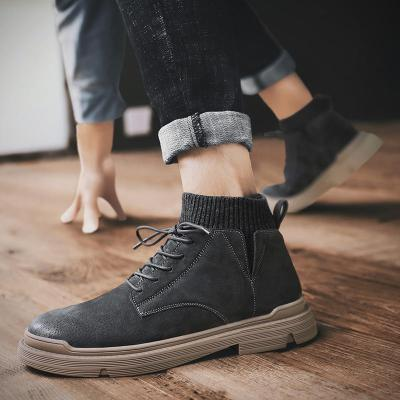 Winter Warm Boots Men Fashion Casual Lace-up Men's Boots Male 2020 Brand Leather New Retro Comfy Men Snow Boots