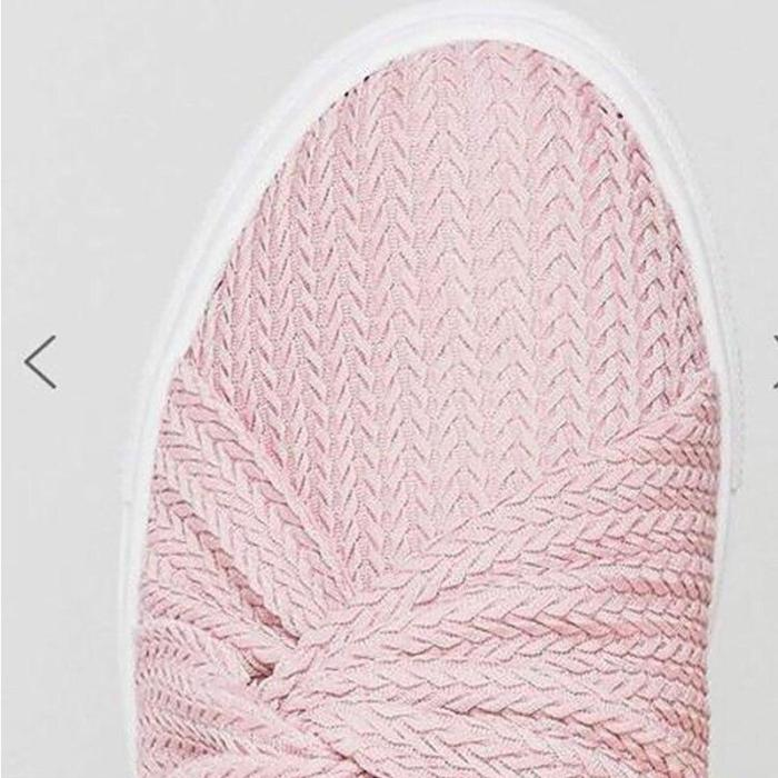 Women's Loafers Summer Plus Size 43 Butterfly Knot Air Mesh Breathable Pink Shoe Female Casual Round Toe Slip On Tennis Shoes