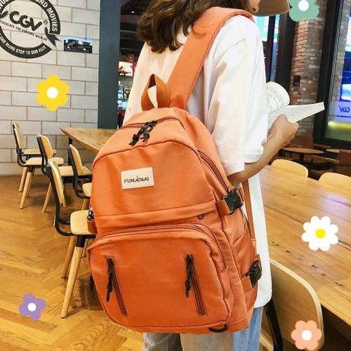 Kawaii Female Buckle Backpack Women Large Capacity School Bag For Teenage Girl cute nylon Backpack Multi Pocket Fashion Bag Lady