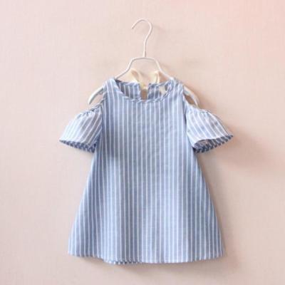 Kids Dresses Girls 2017 New Fashion Sweater Cotton Flower Shirt Short Summer T-shirt Vest Big For Maotou Beach Party Dress