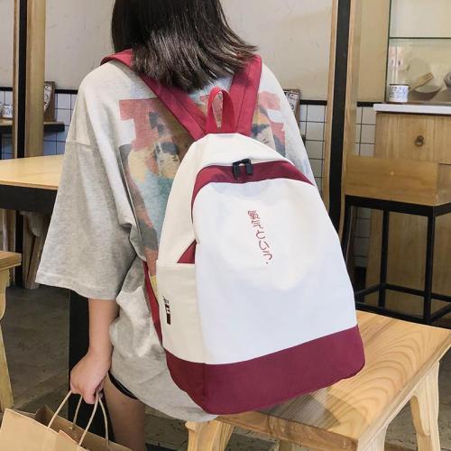 Student Female Waterproof Backpack Cute Women Harajuku School Bag Girl Kawaii Backpack Nylon Book Bag Embroidery Fashion Teenage
