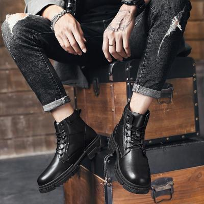 Men Winter Warm Snow Boots outdoor High Top with Fur Men ankle Boots lace up Fashion Velvet Men Boots Casual Men's Shoes