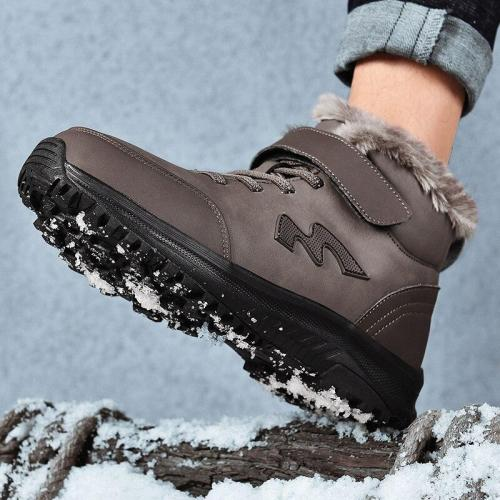 2020 Winter Boots Men Fur Warm Men Winter Shoes Winter Shoes for Men sneakers for men's fur Warm Snow Boots