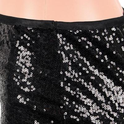2020 new hot women's sequined skirt sexy sequins slim with lining bag hip skirt apricot black skirt
