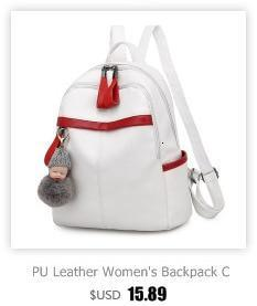 Multifunction Women's Mini Backpack Solid Large Capacity Travel Backpack School Bags For Teenage Girls