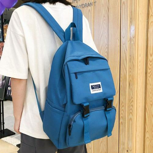 Female Kawaii Buckle Backpack Women Large Capacity School Bags For Teenage Girl Oxford Backpacks Multi Pocket Fashion Bag Ladies
