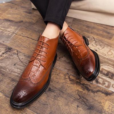 New Autumn winter Men's Dress Boots Business Men Bullock Boots Leather Men shoes Comfortable Casual Shoes