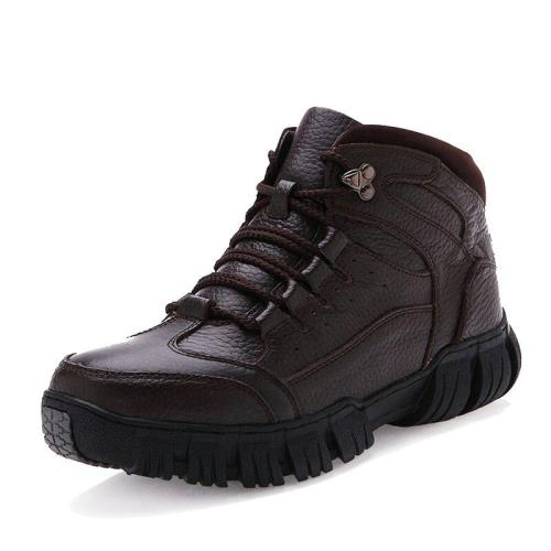 Autumn Winter With Fur 2020 Warm Snow Boots Men Casual Boots Work Shoes Men Footwear Fashion Ankle Shoes Men Boots