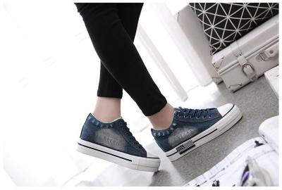 Women Shoes 2020 Sneaker Denim Canvas Shoes Female Summer Casual Trainers Ladies Platform Wedges Shoes for Women Zapatos Mujer