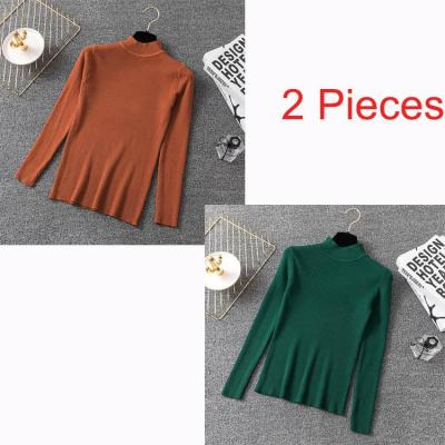Bonjean Knitted Jumper Autumn Winter Tops Pullovers Casual Sweaters Women Shirt Long Sleeve Short Slim Tight Sweater Girls