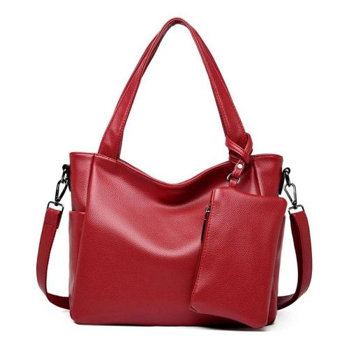 2pc/sets female Large Capacity Tote Bags Female Soft Leather Shoulder Bag Sac A Main Bolsas Women Leather Handbags High Quality