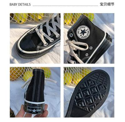 High Quality Classic Women Canvas Shoes 2020 new autumn High Top Flats Women Vulcanized Shoes Factory Outlet Female Casual Shoes