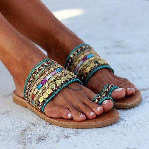 Women Summer Shoes Boho Artisanal Flat Sandals Ladies Handmade Greek Style Flip Flop Slippers Sandals Sandalia Feminina 2020