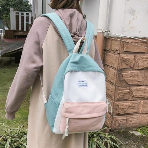 Student Female Canvas Backpacks Cute Women School Bags For Teenage Girls 2019 Kawaii Backpack Harajuku Ladies Fashion Bag Luxury