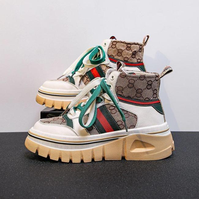 Luxury Brand Sneakers Women Shoes Zapatillas Mujer Fashion Designer High Top Platform Shoes Women Chunky Sneakers Baskets Femme