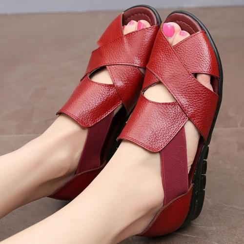 Elastic band Ladies sandals Large size 4.5-10 Designer Casual Womens Sandals Comfortable Antiskid Female shoes Summer