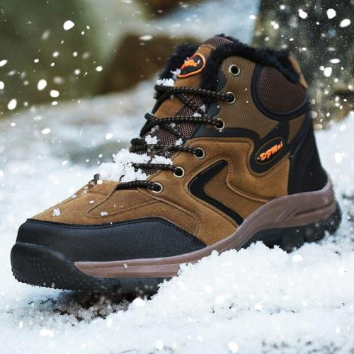 MINUSIKE Brand Super Warm Men's Winter Leather Men Waterproof Rubber Snow Boots Leisure Boots England Retro Shoes Men Big Size