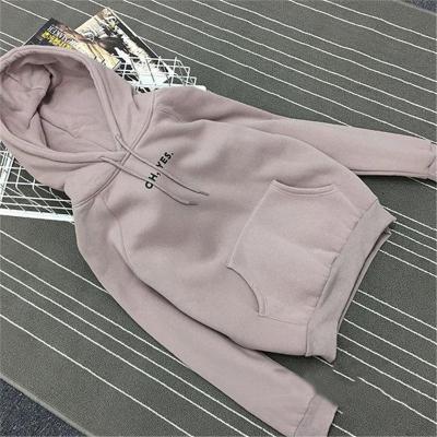 Autumn Winter Fleece Oh Yes Letter Harajuku Print Pullover Thick Loose Women Hoodies Sweatshirt Female Casual Coat