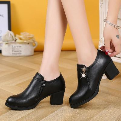 Plus Size 41 Womens Ankle Boots Medium Heels Black Boot designer shoes booties 2020 woman Boot Ladies Botas Mujer bootee 6724