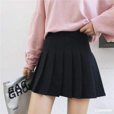 New Women Skirts Mini Plaid Summer Skirt 2020 High Waist Stitching Student Pleated Cute Sweet Girls Dance Female