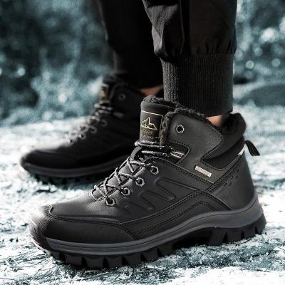 Winter Fashion Lace Up Keep Warm Boots With Plush Soft Comfortable Split Leather Men's Ankle Boots Plus Size 40-46 2020 New