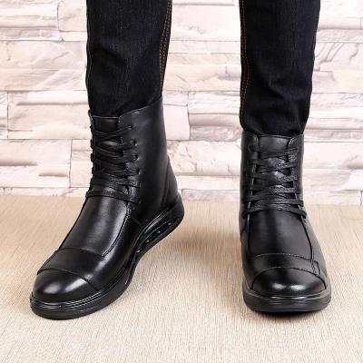 2020 Hot Brand Men's Boots Genuine Leather Winter Autumn Shoes Motorcycle Mens Ankle Boot Couple Oxfords Shoes Big Size 35-46