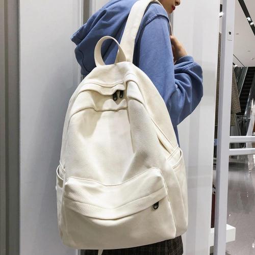 Student Female Cotton Canvas Backpack Kawaii Women Vintage School Bag Teenage Girl Cute Backpacks Fashion Ladies Luxury Bag Book