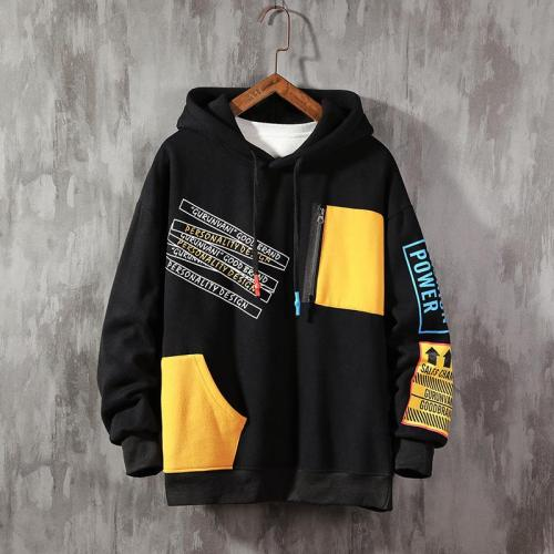2020 Autumn Large Size patchwork Hoodie Men color block sweatshirt  Brand Trend Contrast Color Stitching Long Sleeve Men