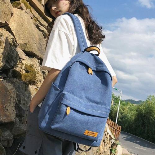 Female Cute Canvas Backpack Vintage Women School Bags For Girls Fashion Backpack Lady Luxury Harajuku Kawaii Teenage Student Bag