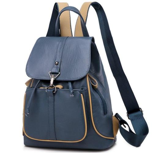 2020 Women Leather Backpacks Large Capacity Travel Shoulder Bag Sac A Dos School Bags For Girls Female Backpack Leather Bagpack