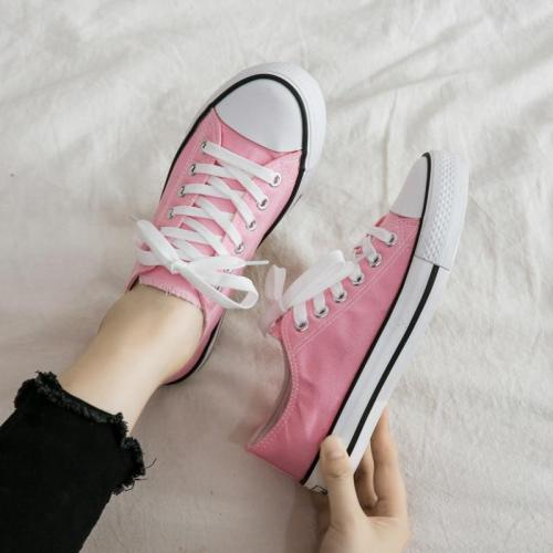 2021 New fashion Canvas Shoes Women Trend Cloth Shoes New Fashion Comfortable Breathable Flat Solid Color Sneakers Women E12-21