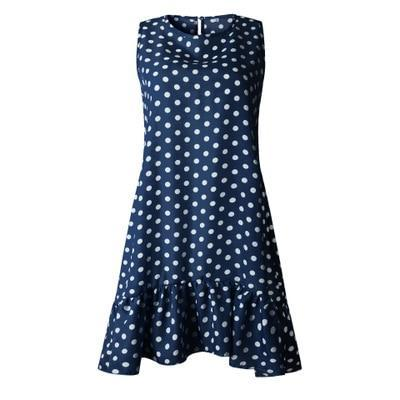 Wave Point Dress Ruffle Women 2020 Spring Summer Street Sexy Casual Slim Thin Beach Party O Neck Mini Polka Dot Dress Vestidos