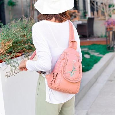 2020 Women Soft Leather Backpacks High Quality Sac A Dos Female Travel Shoulder Bag Ladies Bagpack School Bags For Girls New