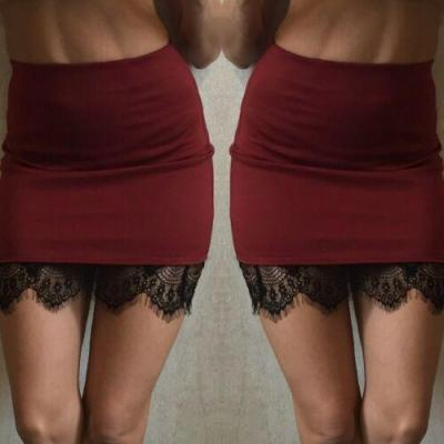 Women OL Formal Lace A-Line High Waist Short Bodycon Mini Skirt Pencil Skirt Solid Color Soft Formal Skirts 2020 New Hot