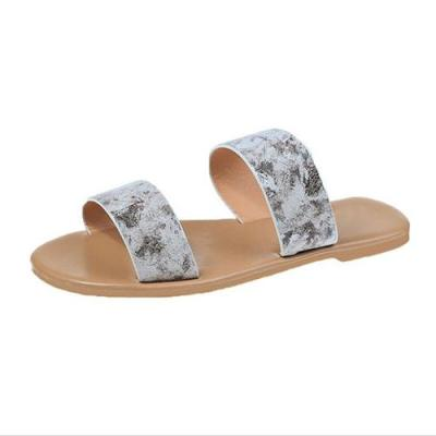 2020 Women Summer Slippers Flat Woman Beach Big Size Women's Casual Shoes Ladies Solid Outside Fashion Comfortable Slides