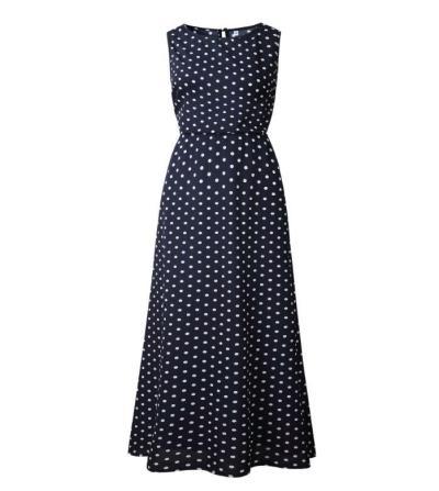 2020 Dress Women Summer  fashion  Wave point  Round collar  Longuette  sexy  Button  female Bohemia  Dress