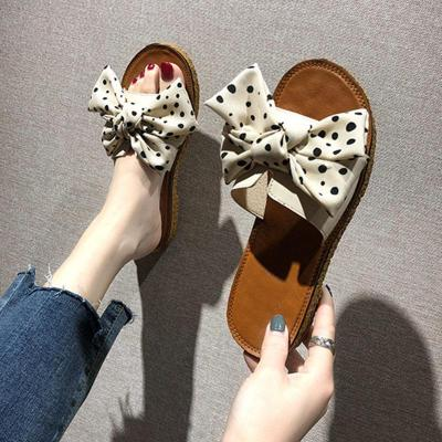 Women Summer Slipper Woman Butterfly Knot Flat Shoes Ladies Casual Open Toe Fashion Comfortable Shoes Female Outdoor Slipper
