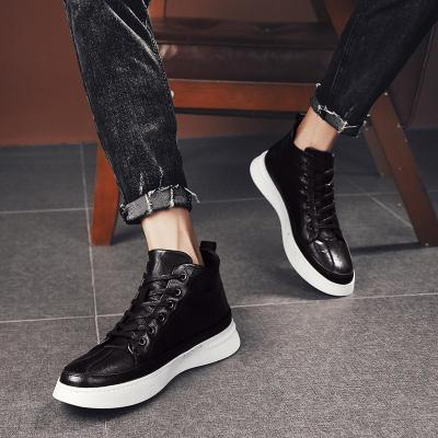 2020 Winter Fashion Leather High Top Sneakers Men Shoes Winter Warm Casual classic Comfortable Male Footwear