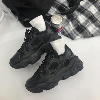 Hot Chunky Sneakers Womens Shoes 2020 Running Shoes Mesh Designers Platform Fashion Vulcanized Shoes Woman Black Trainers Female