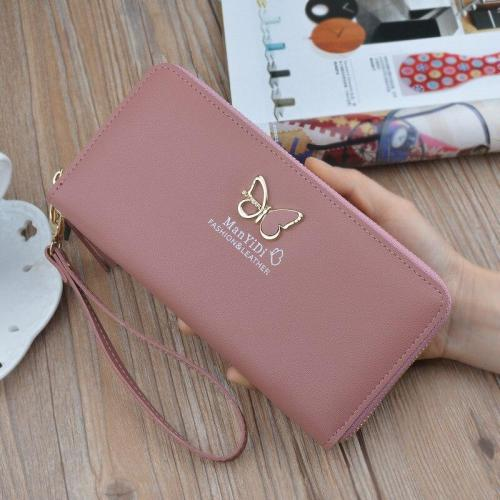 New butterfly wallet ladies long zipper clutch women's 2020 European and American fashion wallet large capacity wallet