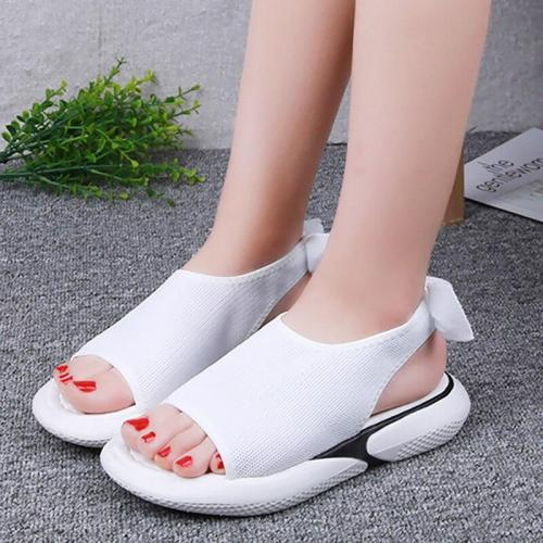Women's shoes summer sandals Butterfly-knot Wedges shoes for women Platform sandals Open toe Brand beach shoes