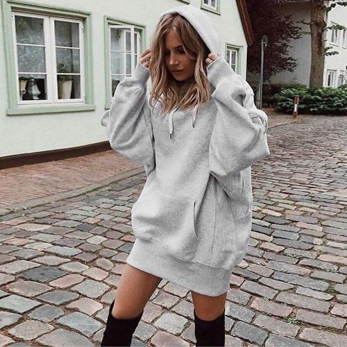 Sweatshirt Women Long Hoodie Fashion Solid Clothes Hoodies Pullover Coat Hoody Sweatshirt moletom feminino Tracksuit Women #F5