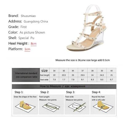 Shuzumiao Women Samdals 8cm High Heels Sexy Ankle Strap Open Toe Sandals Party Dress New Women Shoes T Strap Rivet Plus Size 43